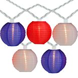 Colored Round Chinese Lantern String Lights