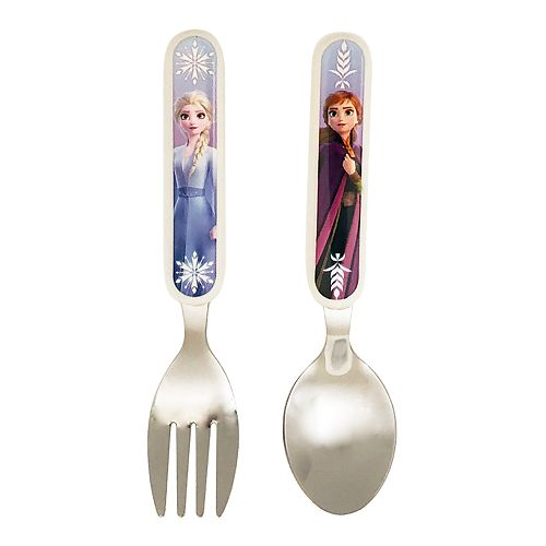 Set cutlery Frozen Frozen DISNEY 4 pieces NEW plastic 2 forks /& 2 spoons