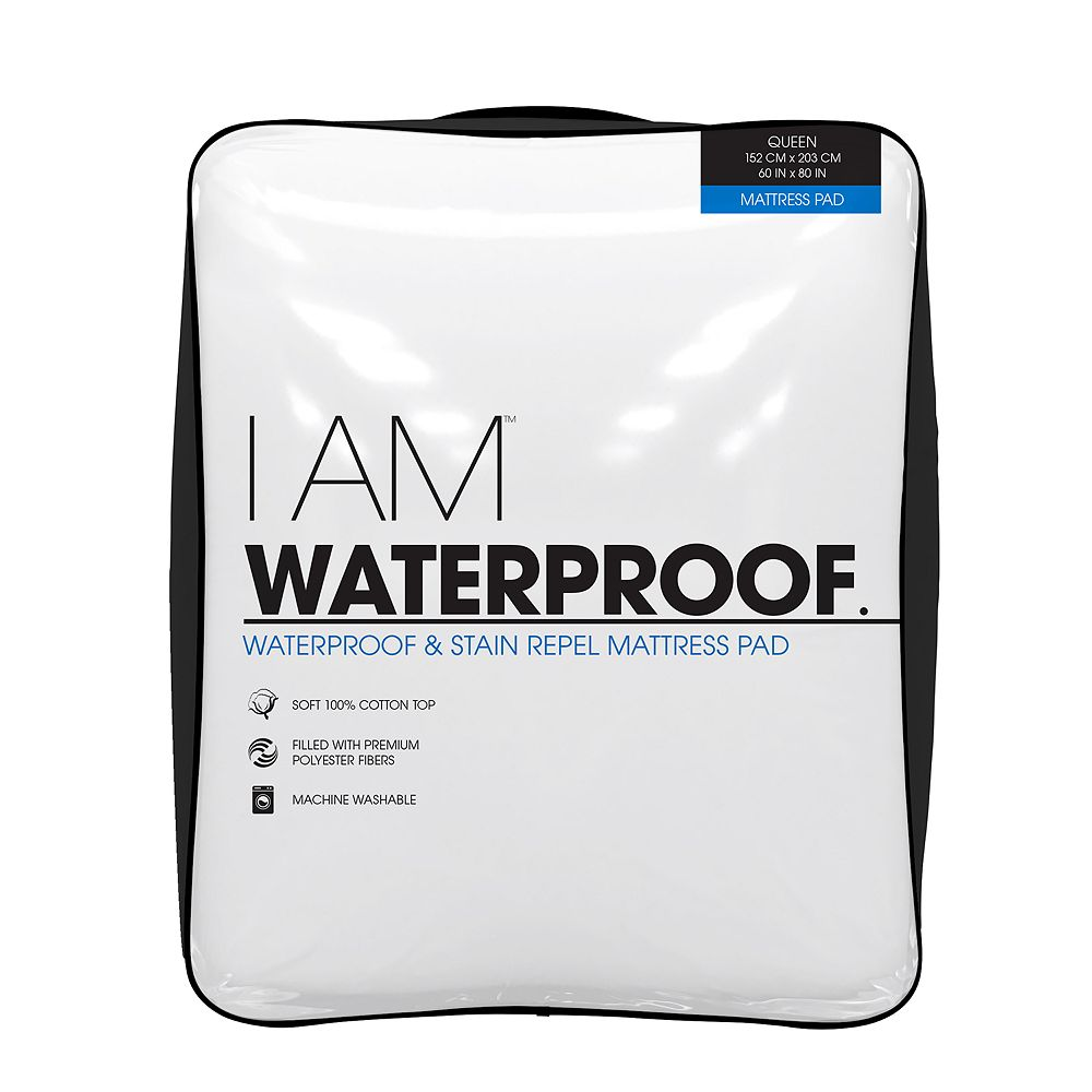 I Am Waterproof Mattress Pad