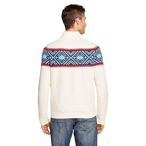 Men's IZOD Sportswear Classic-Fit Fairisle Quarter-Zip Sweater