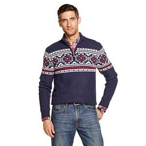 Men's IZOD Sportswear Classic-Fit Fairisle Quarter-Zip Sweater
