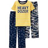 Boys 4-12 Carter's 3-Piece Heavy Dozer Pajama Set