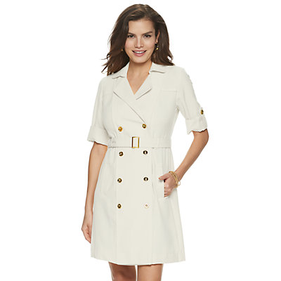Women's Sharagano Double-Breasted Shirt Dress