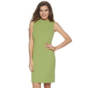 Women's Sharagano Mockneck Sleeveless Shift Dress
