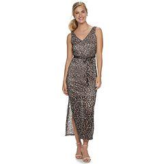 7a1b54ce417988 Women's Sharagano Two-Tone Lace Maxi Dress
