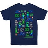 Boys 8-20 Minecraft Characters Group Tee