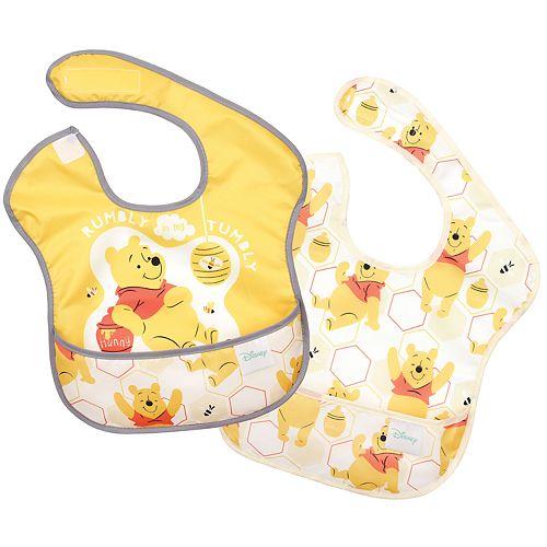 Bumkins Disney Bib Winnie The Pooh SuperBib 2-Pack