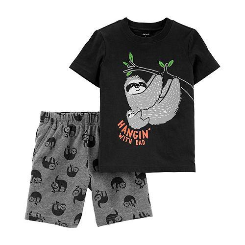 Kids Soft Cotton T Shirt Sloth Flash The Neutral Stylish Crewneck Short Sleeve Tops Black