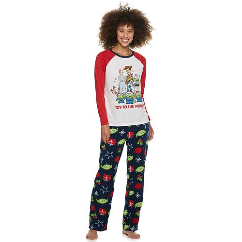 """Disney / Pixar's Toy Story 4 Women's """"Toy to the World"""" Microfleece Top & Bottom Pajama Set by Jammies For Your Families"""