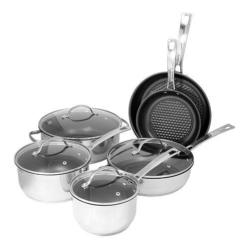 Studio Cuisine 10-pc. Stainless Steel Cookware Set