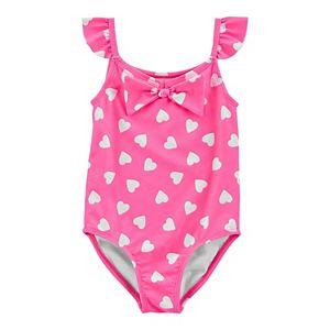 Toddler Girl Carter's Neon Heart 1-Piece Swimsuit