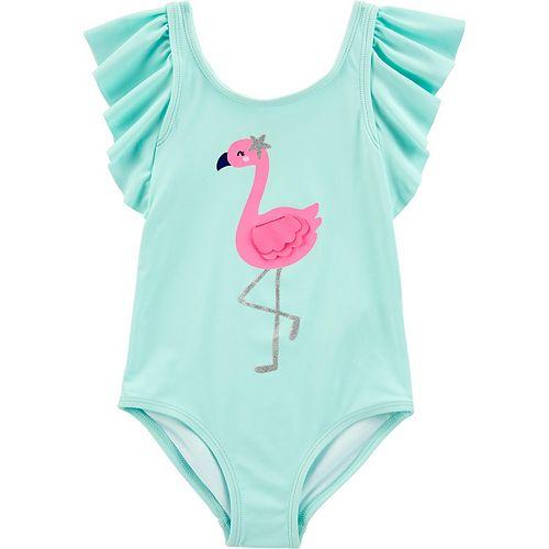 Toddler Girl Carter's Flamingo 1-Piece Swimsuit