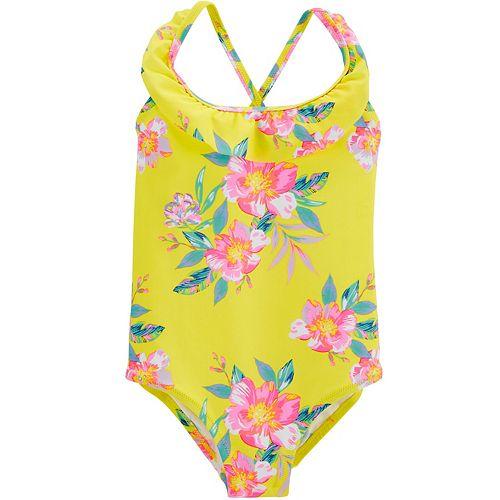 Toddler Girl OshKosh B'gosh® Ruffle Floral One Piece Swimsuit