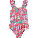 Toddler Girl OshKosh B'gosh® Tropical Floral One-Piece Swimsuit