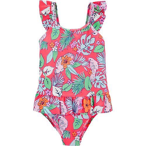 Toddler Girl OshKosh B'gosh® Tropical Floral One-Piece Swimsuit
