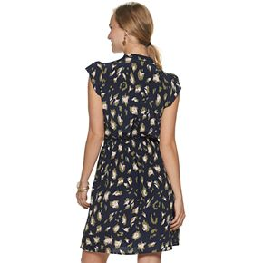 Women's Juicy Couture Flutter-Sleeve Shirtdress