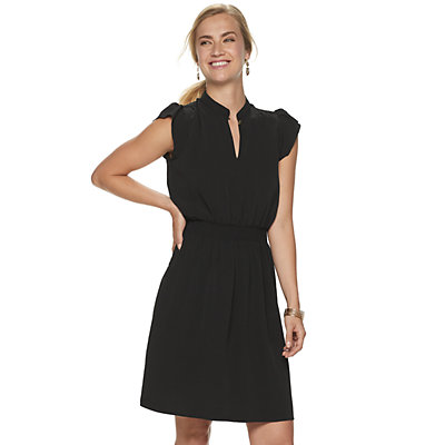Women's Juicy Couture Flutter-Sleeve Shirtdress