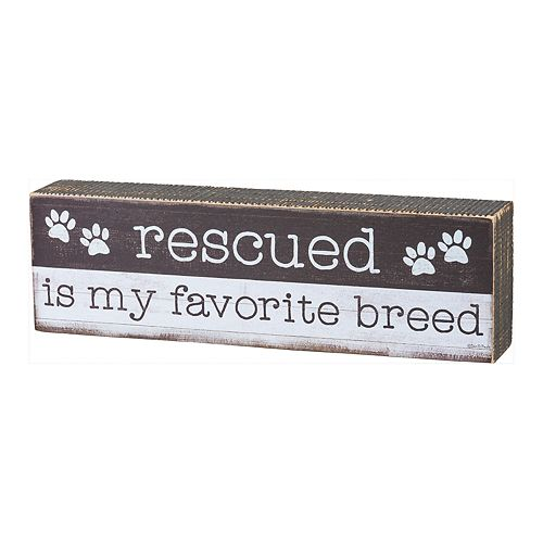 Rescued Favorite Breed Sign Table Decor