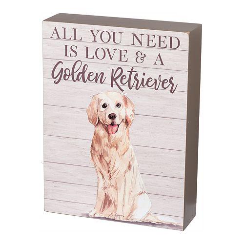Love Gold Retriever Wall Decor