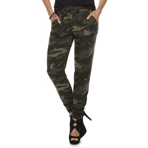 Women's Rock & Republic® Challis Camo Print Soft Pants