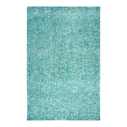 Rizzy Home Melissa Talbot Teal & White Rug