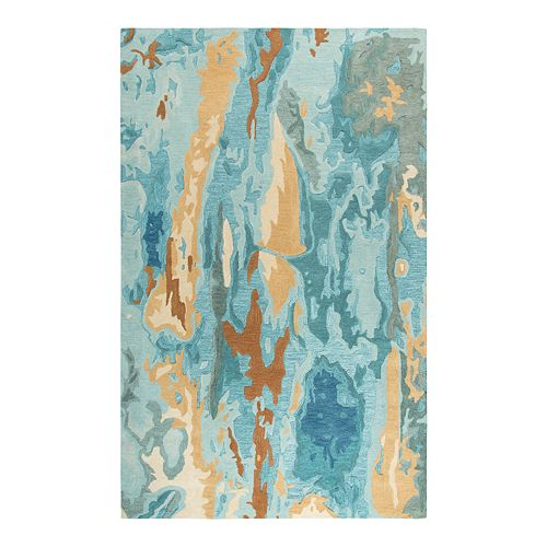 Rizzy Home Laura Vogue Blue/Gray/Gold Rug