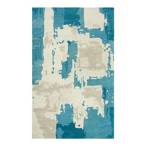 Rizzy Home Donna Vogue Blue/Taupe Rug