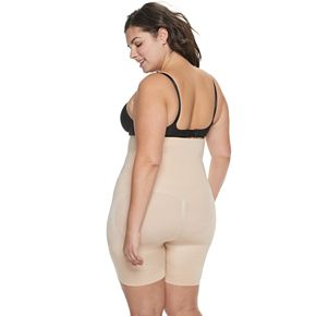 Plus Size Red Hot by Spanx Flat Out Flawless High-Waist Mid-Thigh Body Shaper FS4015