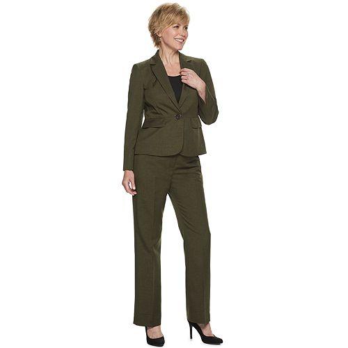 Women's Le Suit Melange Jacket & Pant Suit