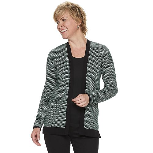 Women's Croft & Barrow® Essential Open-Front Cardigan