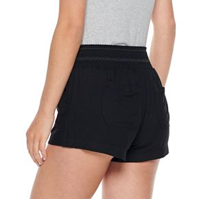 Juniors' Rewash Smocked Waistband Soft Shorts
