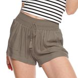 Juniors' Rewash Smocked Waistband Soft Shorts