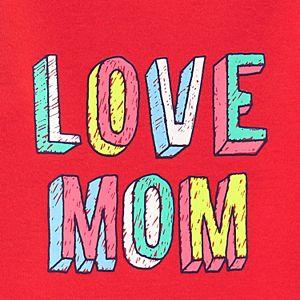 "Baby Girl Carter's ""Love Mom"" Bodysuit"