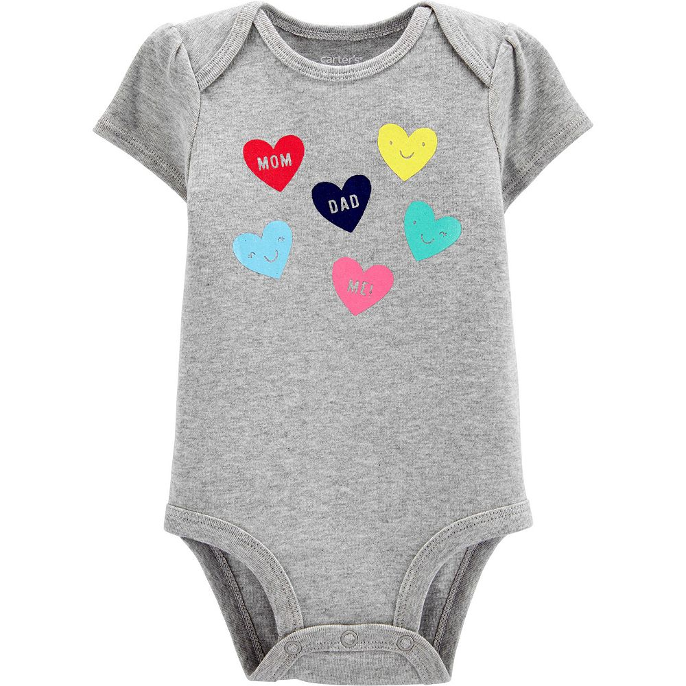 Baby Girl Carter's Heart Bodysuit