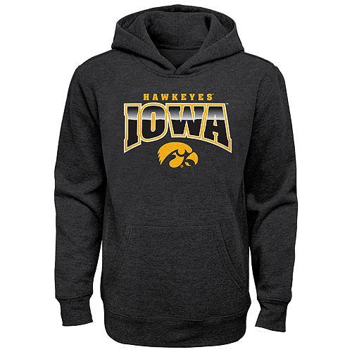 Boy's 4-20 NCAA Iowa Hawkeyes Charcoal Promo Fleece