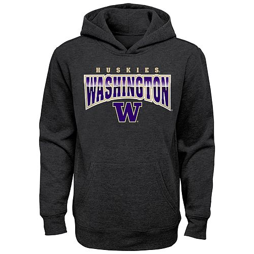 Boy's 4-20 NCAA Washington Huskies Charcoal Promo Fleece