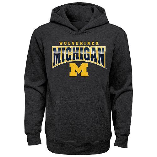 Boy's 4-20 NCAA Michigan Wolverines Charcoal Promo Fleece
