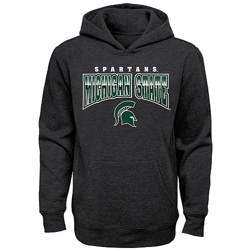 Boy's 4-20 NCAA Michigan State Spartans Charcoal Promo Fleece