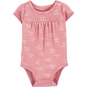 Baby Girl Carter's Mommy & Daddy Bodysuit