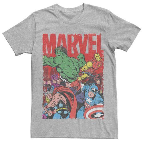 Men's Marvel's Avengers Vintage Group Shot Logo Tee