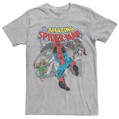 Men's Marvel's Spider-Man Vintage Collage Tee