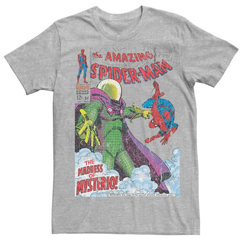 Men's Marvel's Spider-Man Mysterio Vintage Comic Cover Tee