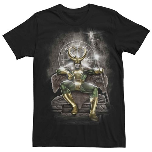 Men's Marvel's Loki Throne Portrait Classic Tee