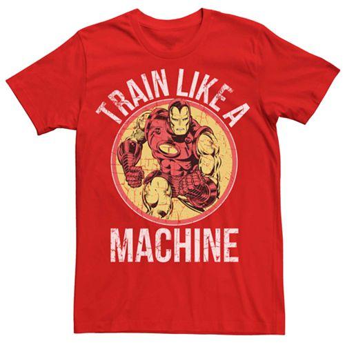 Men's Marvel Iron Man Train Like A Machine Tee