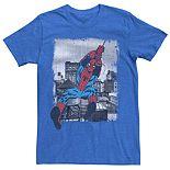 Men's Marvel's Spider-Man Vintage City Swing Poster Tee