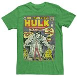 Men's Marvel The Incredible Hulk First Comic Cover Tee