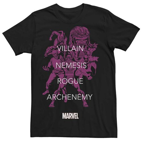 Men's Marvel's Villains Tonal Portrait Tee