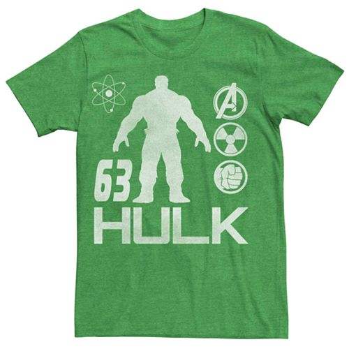 Men's Marvel's Hulk Silhouette Science Symbols Tee