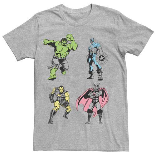 Men's Marvel Avengers Color Pop Group Shot Tee