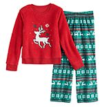 Girls 4-14 & Plus Size SO® Seasonal Cozy Sherpa Pajama Set